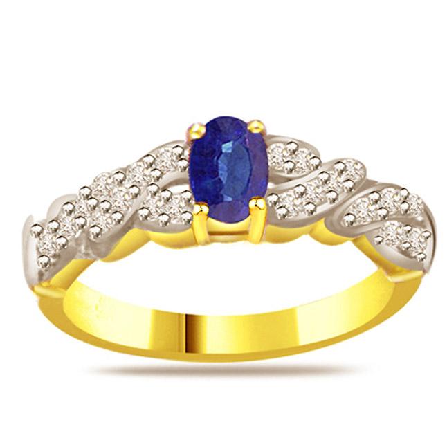 0.22ct Diamond & Sapphire Gold rings SDR1163