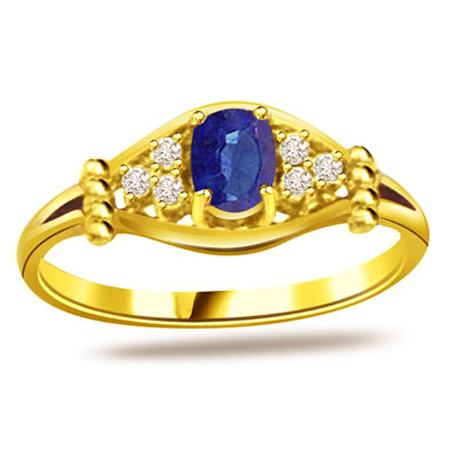 0.18ct Diamond & Sapphire Gold rings SDR1165