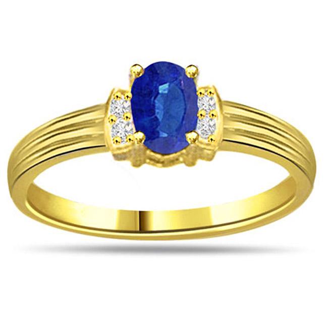 0.10ct Diamond & Sapphire Gold rings SDR1166