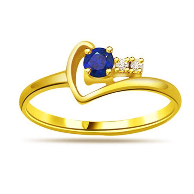Diamond & Sapphire rings SDR1172