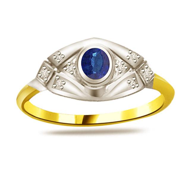 Elegant Diamond & Sapphire Gold rings SDR1179