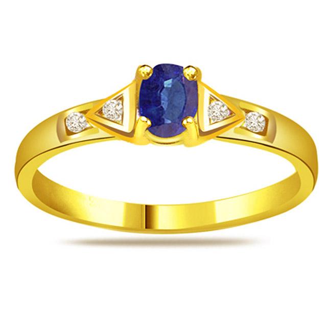 Diamond & Sapphire rings SDR1181
