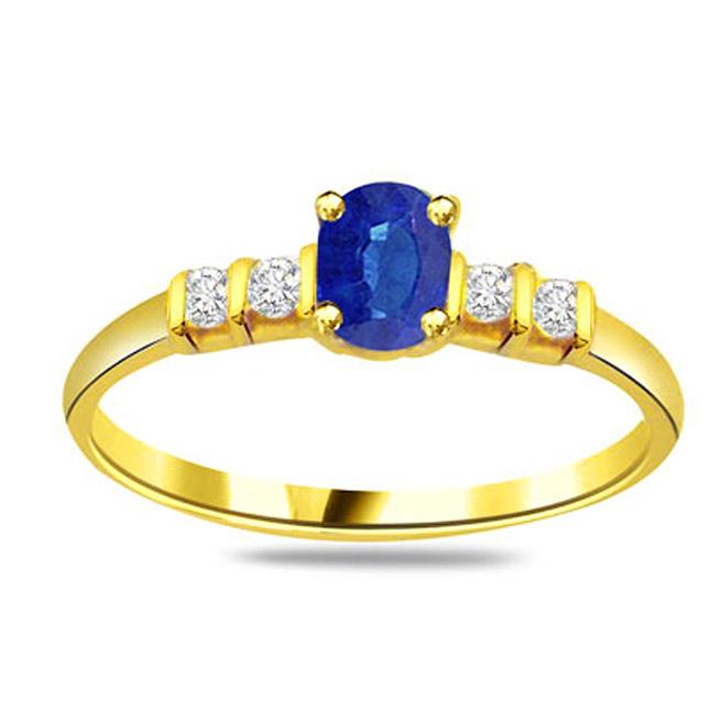 Diamond & Sapphire rings SDR1182