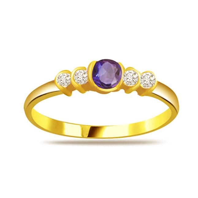 Diamond & Sapphire rings SDR1183
