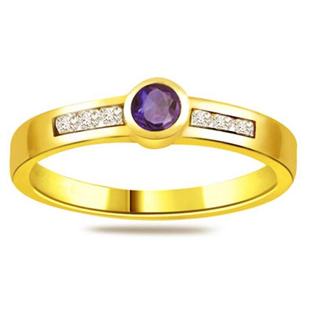 Diamond & Sapphire rings SDR1186