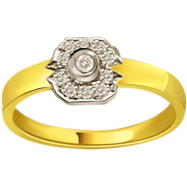 0.40ct Diamond 18kt Gold rings SDR1190 -White Yellow Gold rings
