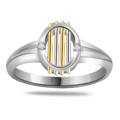 0.04ct Diamond Two -Tone rings