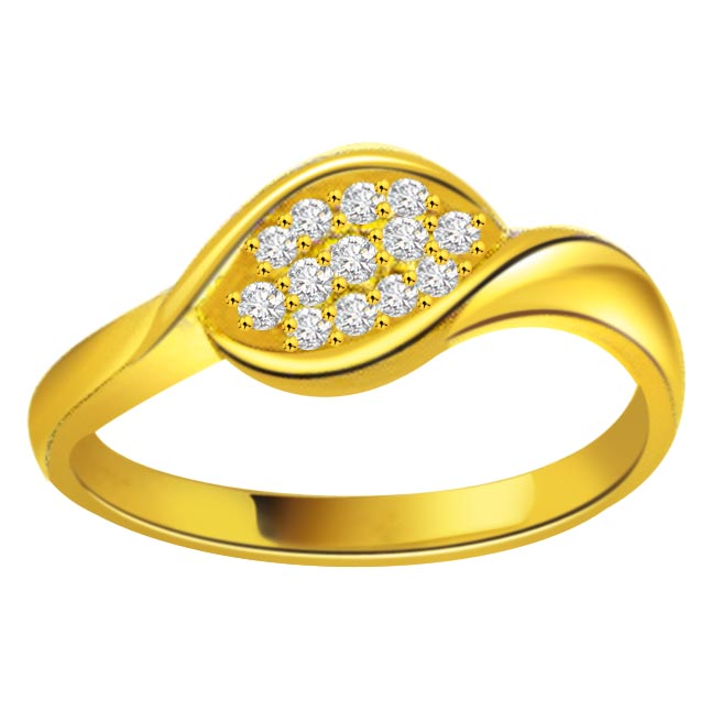 0.26ct Diamond Gold rings SDR1195