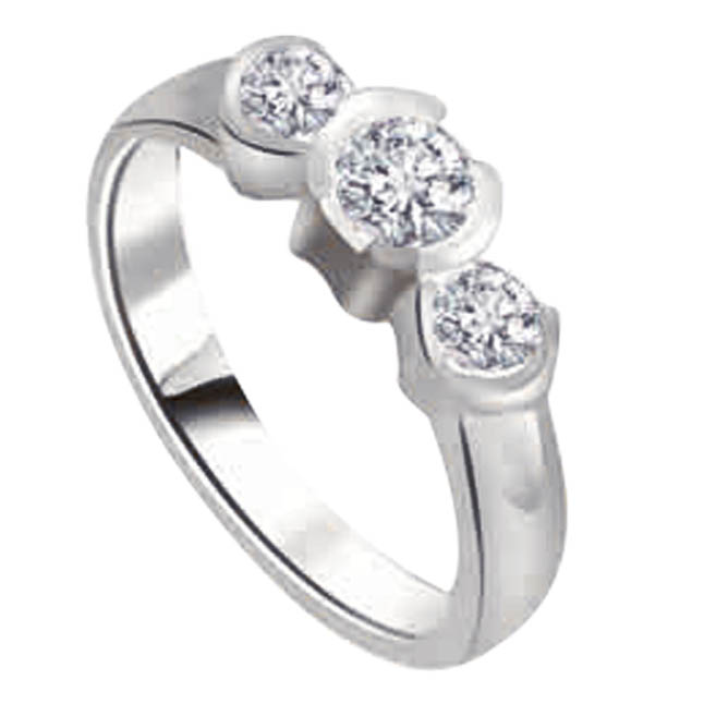0.60ct Diamond White Gold rings SDR1204 -Yellow Gold Eternity rings