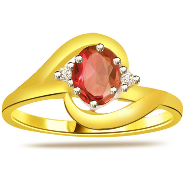 Diamond & Ruby Gold rings SDR1208