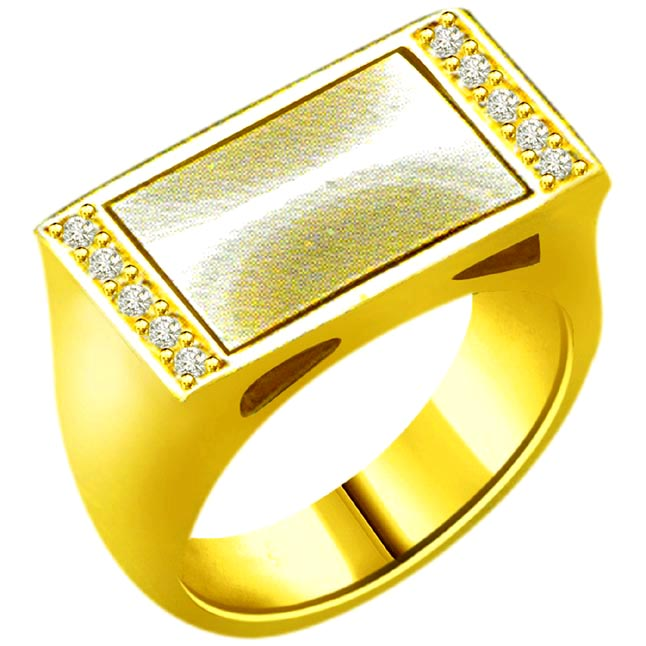 0.15 cts Classic Diamond 18kt Gold rings
