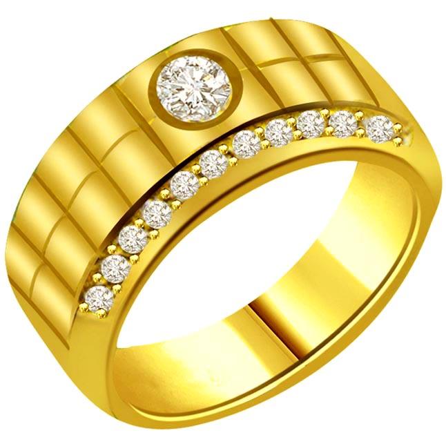 0.40ct Diamond 18kt Yellow Gold rings SDR1230