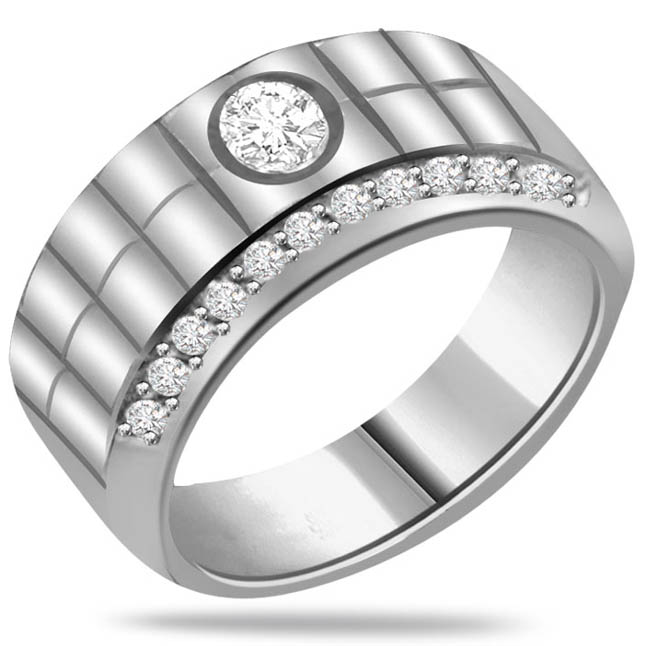 0.36ct Diamond 14kt White Gold rings SDR1233 -Designer