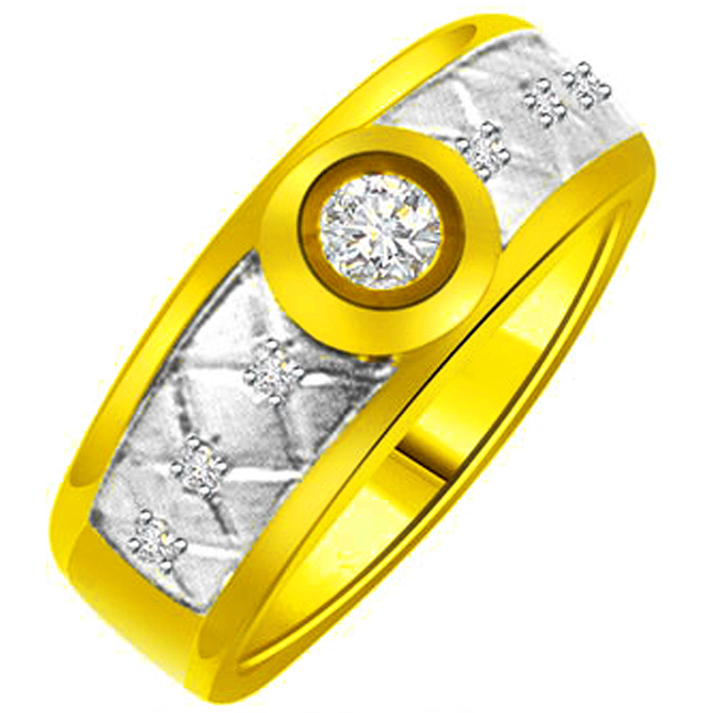 Trendy Diamond 18kt Gold rings SDR1238 -White Yellow Gold rings