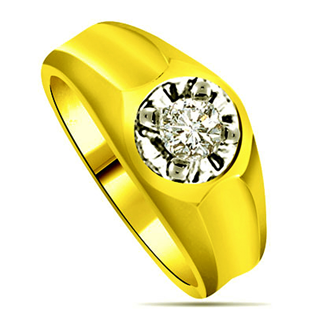 0.40 cts Two Tone Solitaire Diamond rings -Two Tone Solitaire