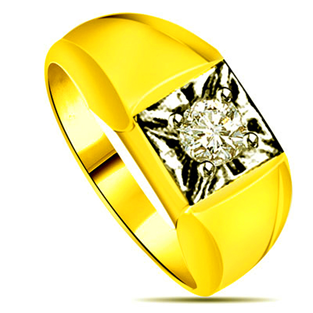 0.30cts Diamond Two Tone Solitaire rings -Two Tone Solitaire