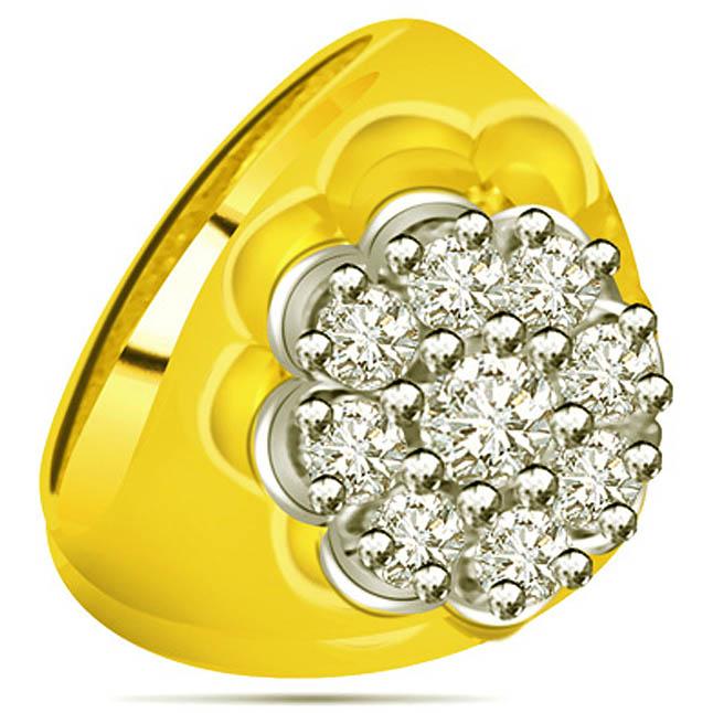 0.36 cts Diamond Designer rings