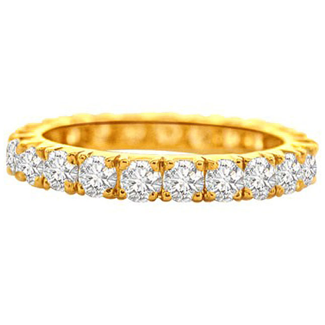Divine Eternity Diamond B -Yellow Gold Eternity rings