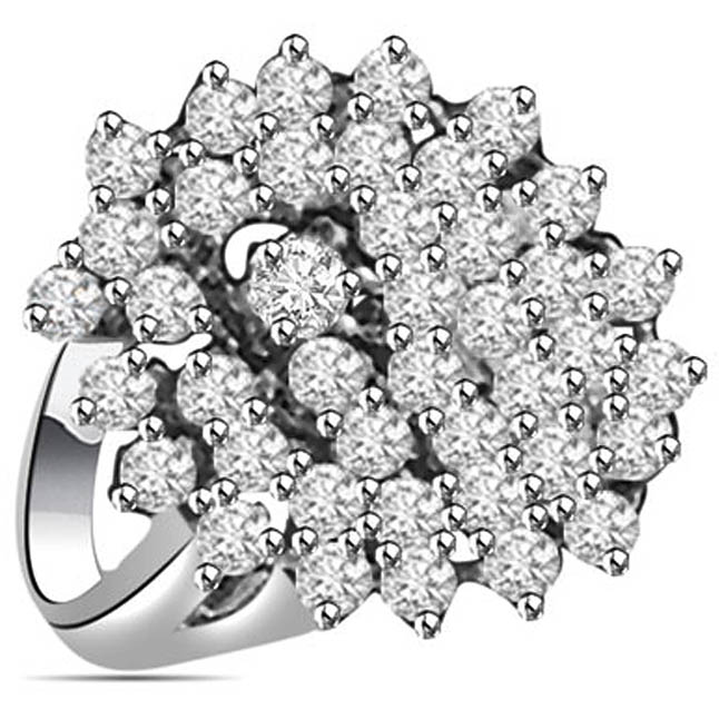 1.00 cts White Gold Diamond rings -Designer