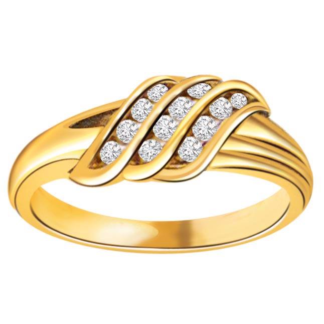 0.18 cts Designer Diamond 18K rings