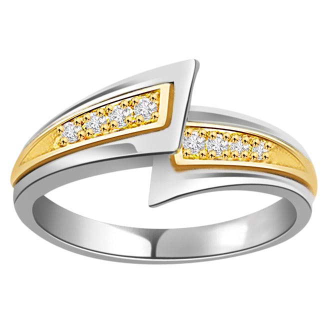 0.08 cts Diamond White Yellow Gold rings -White Yellow Gold rings