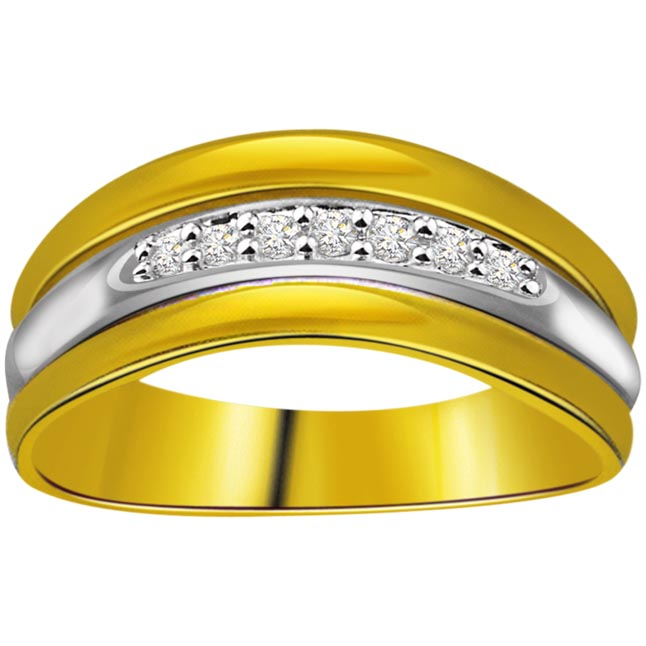 0.10 cts Diamond Two Tone Half Eternity rings -2 Tone Half Eternity