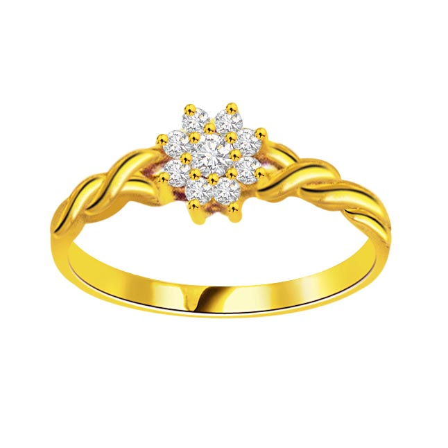 0.30 cts Flower Design Diamond 18K rings