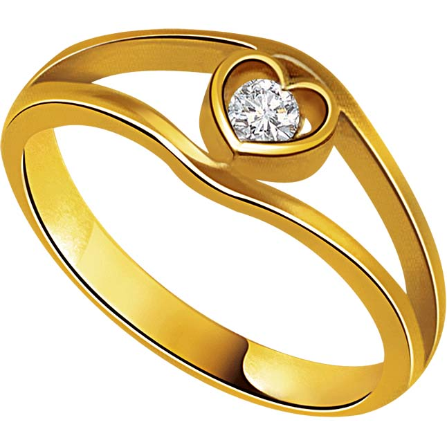 Solitaire Heart Shape Diamond 18K rings
