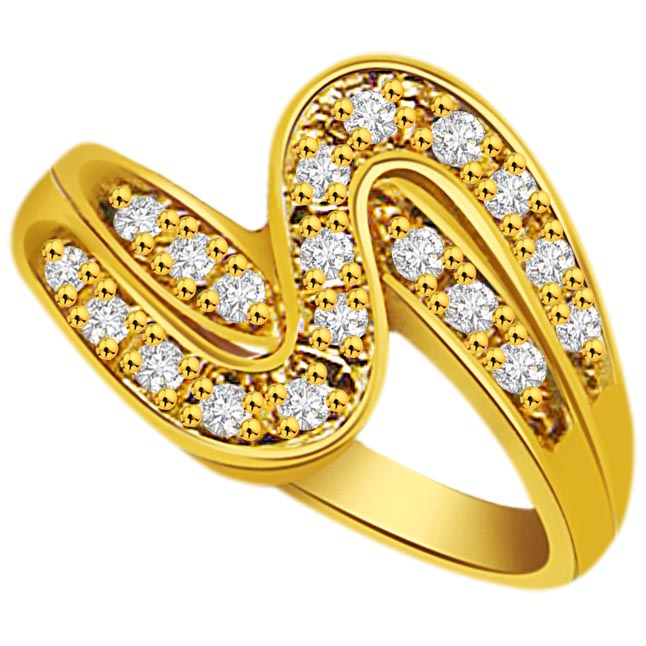 Trendy Diamond 18K rings