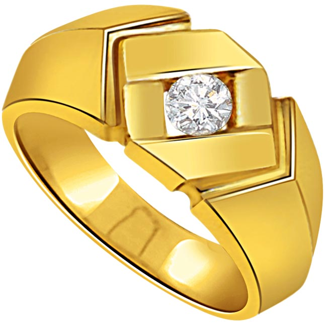 0.07ct Solitaire Mens Diamond 18K rings -Solitaire rings