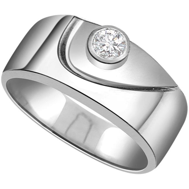 0.05 cts Diamond Solitaire 14K rings -White Gold rings