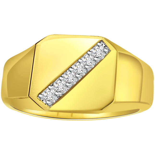 0.18 cts Diamond 18K Mens rings