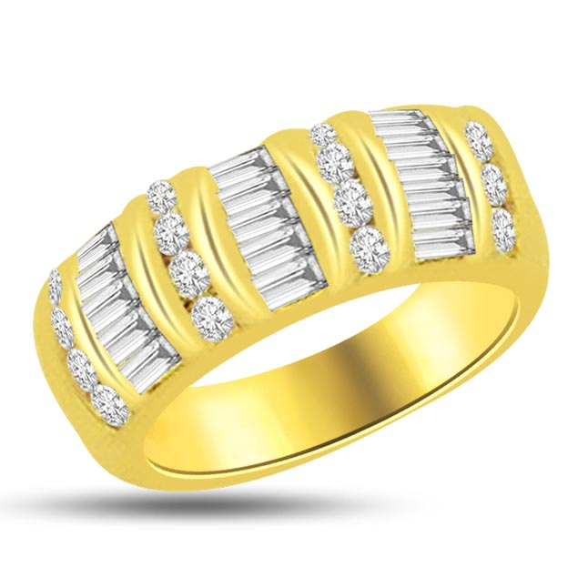 0.48 cts Round & Baguette Diamond rings