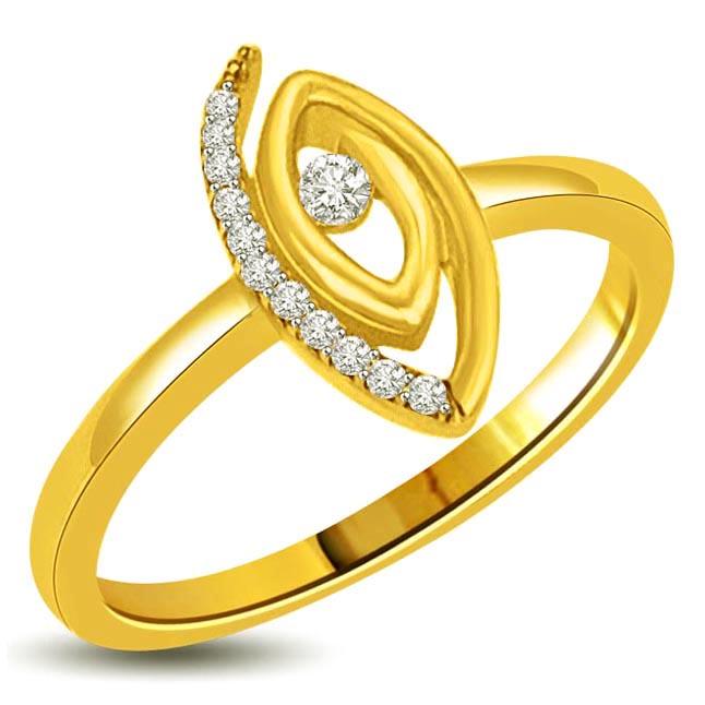 0.16ct Gold & Diamond Designor rings for Ladylove