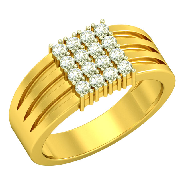 0.40cts 16 Diamond & 18kt Gold Men's rings SDR1682