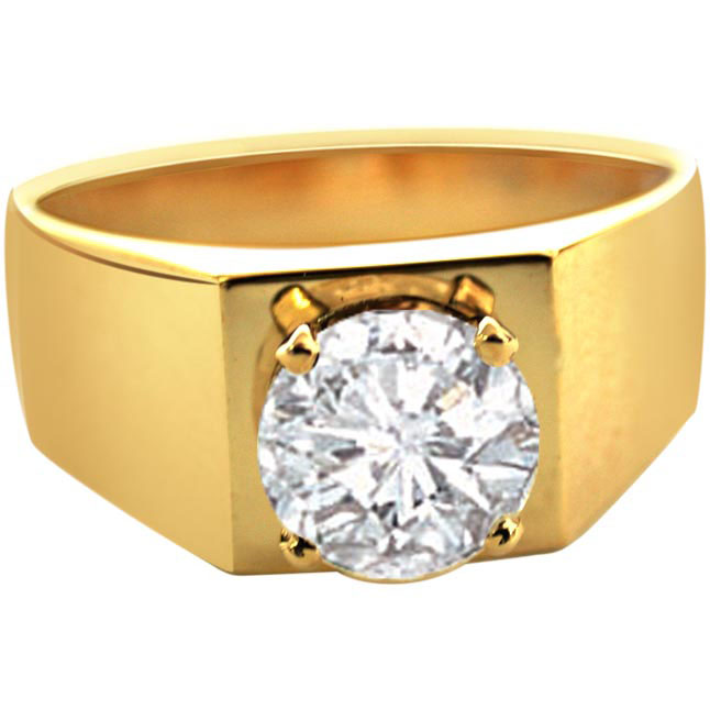 Male Attitude -Solitaire rings