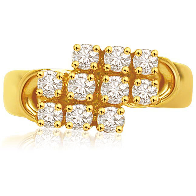 Crossing Love 0.50 ct Brilliant Diamond rings