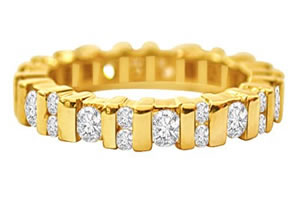 Anniversary Special B -Yellow Gold Eternity rings