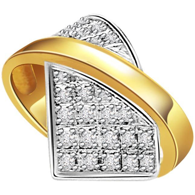 Opulence -White Yellow Gold rings