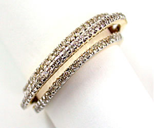 Megical Bond of Relation 0.40 ct Diamond Eternity rings -2 Tone Half Eternity