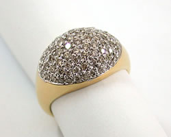 Holding Love in H Fine 1.22 ct Diamond Pave rings -Pave Collection