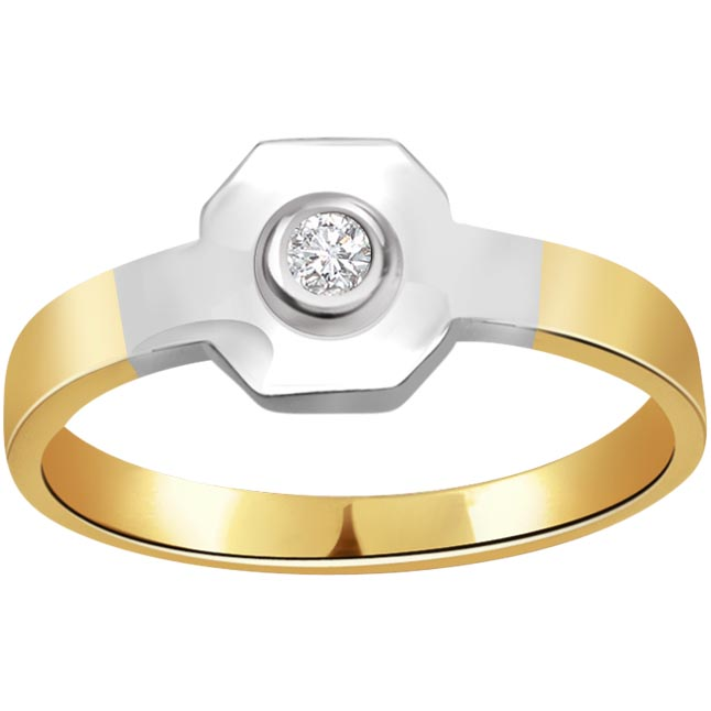 Metalic Delicacy 0.15 ct Diamond Solitaire rings