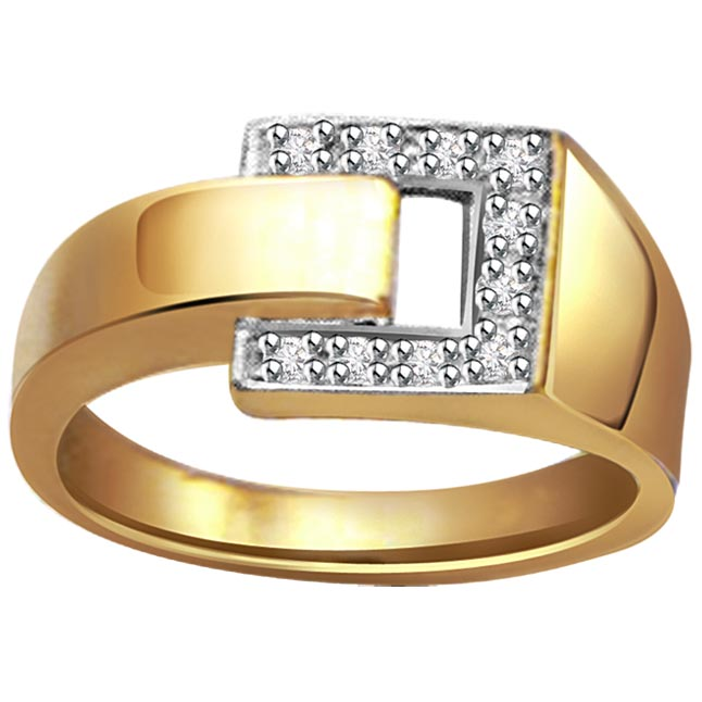 Shiny Belt 0.40 ct Diamond Designer rings