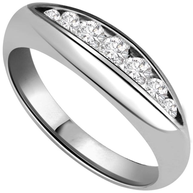Aqua Magic Fine 0.50 ct Diamond White Gold rings -Designer