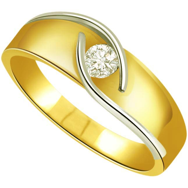 Queen's Glow 0.20 ct Diamond Two -tone Sol rings SDR278