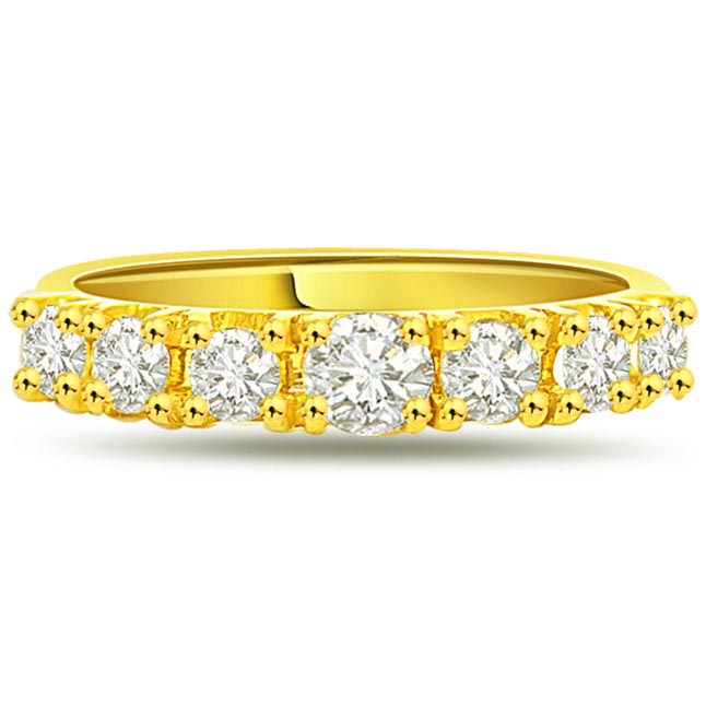 Timeless Magic Classic 0.85 ct Diamond Half Eternity rings