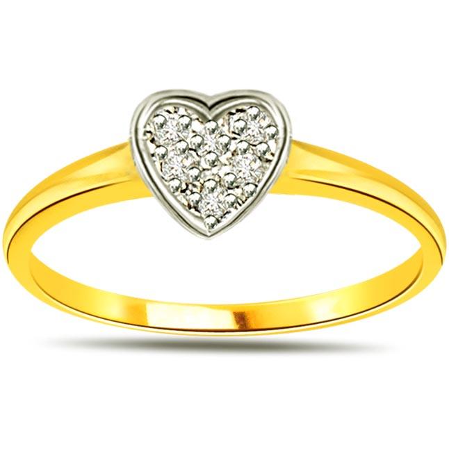 Dream With Bond of Love 7 Diamond Heart rings