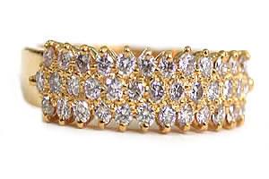 Glitterings Diamond Elegance -Yellow Gold Eternity rings