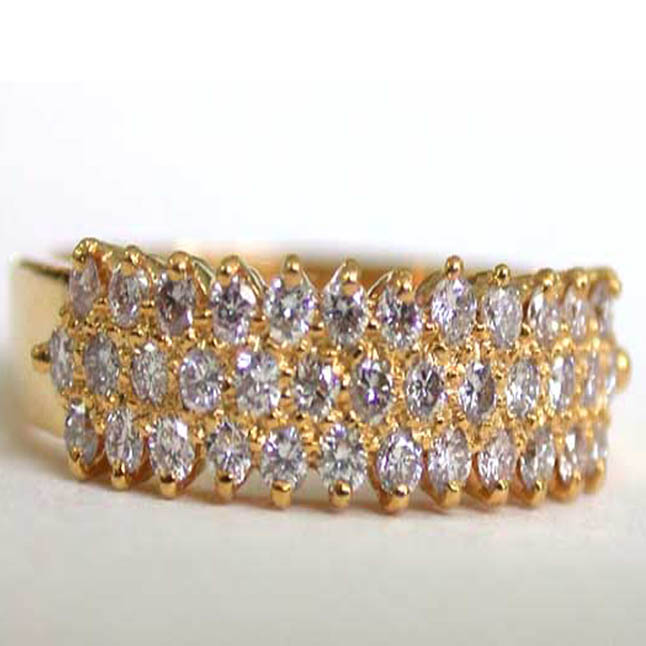 Glitterings Diamond Elegance -Yellow Gold Eternity rings