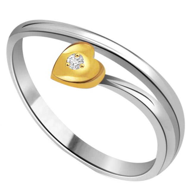 Little Heart Diamond Solitaire rings SDR314